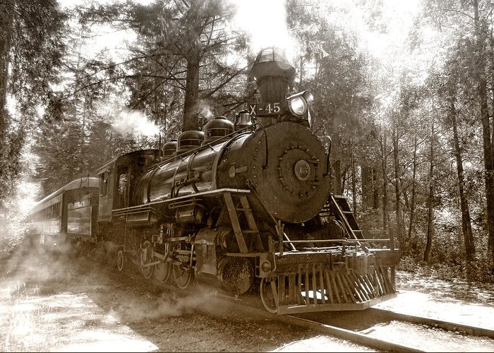 Locomotive Greeting Card featuring the photograph Time Traveler by Donna Blackhall