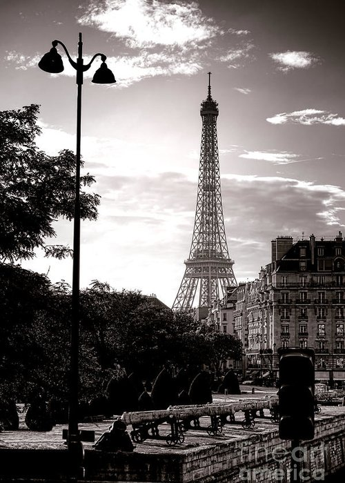 France Greeting Card featuring the photograph Timeless Eiffel Tower by Olivier Le Queinec