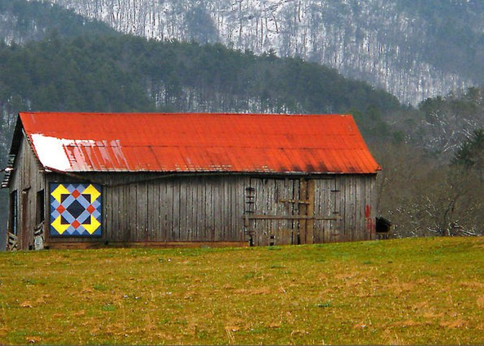 Painted Barn Quilt Greeting Cards