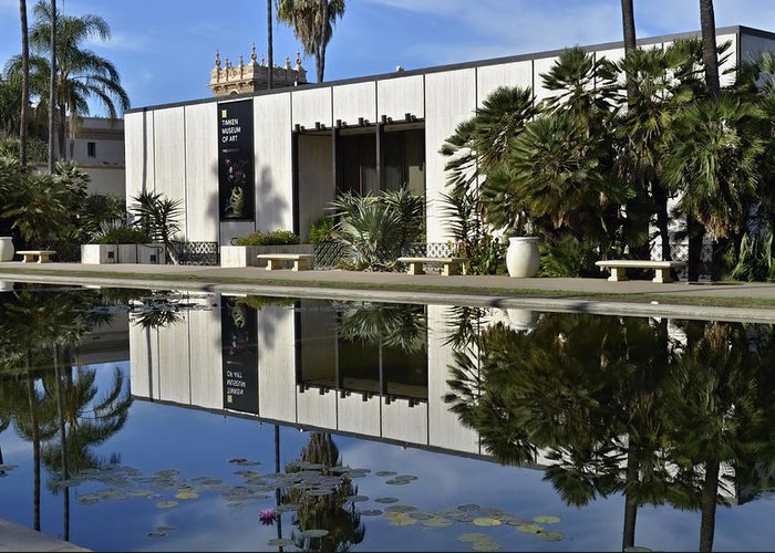 Fish Pond Greeting Card featuring the photograph Timken Museum Of Art by See My Photos