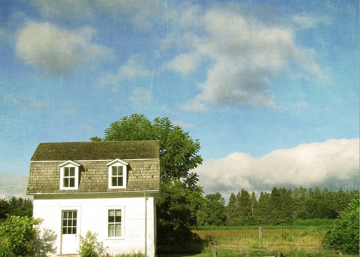 Tranquility Greeting Card featuring the photograph Tiny Country House by Francois Dion