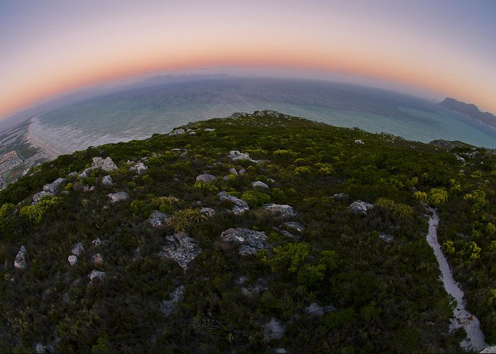 Fisheye Greeting Card featuring the photograph Tip Of The World by Aaron Bedell