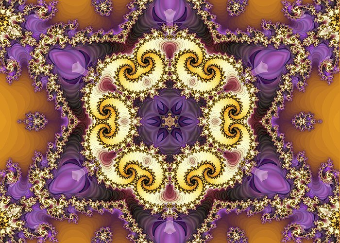 Fractal Greeting Card featuring the digital art Tira by Richard Kelly