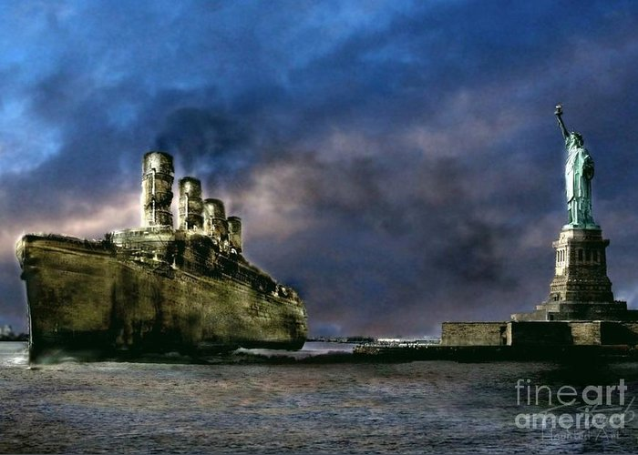 Ghost Ship Greeting Card featuring the photograph Titanic Late Arrival by Tom Straub