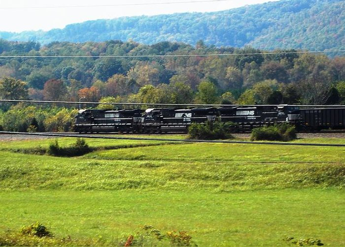 Greeting Card featuring the photograph Tn Train by Regina McLeroy