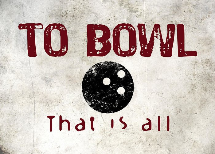 Bowling Ball Greeting Cards