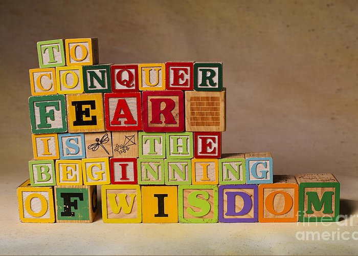 To Conquer Fear Is The Beginning Of Wisdom Greeting Card featuring the photograph To Conquer Fear Is The Beginning Of Wisdom by Art Whitton