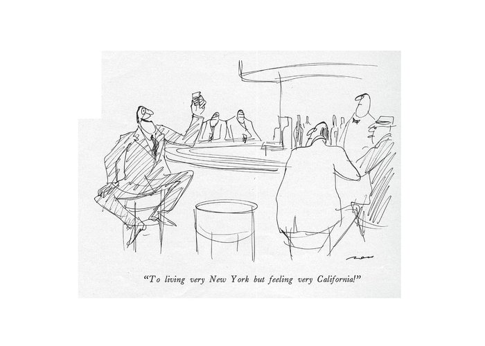 Toasting Drawings Greeting Cards