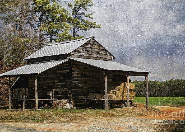 North Carolina Greeting Card featuring the photograph Tobacco Barn In North Carolina by Benanne Stiens