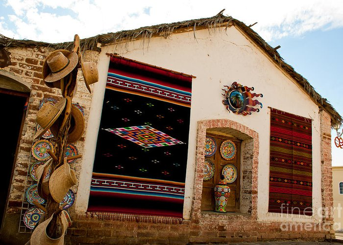 Mexico Greeting Card featuring the photograph Todos Los Santos Market by Ryan Burton