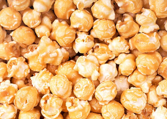 Background Greeting Card featuring the photograph Toffee Popcorn by Jane Rix