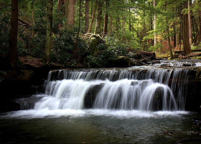 Waterfalls Greeting Card featuring the photograph Tolliver Falls Maryland by Charles Mills
