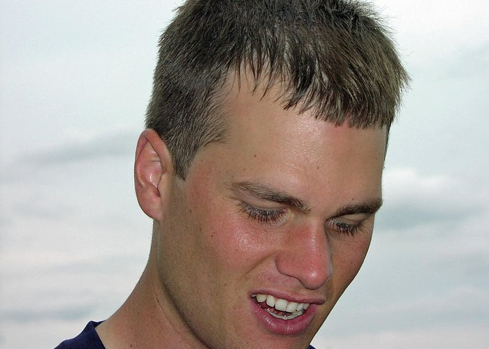 Tom Brady Greeting Card featuring the photograph Tom Brady by Mike Martin