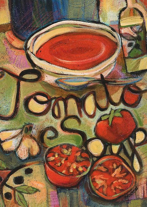 Painted Recipes Greeting Cards