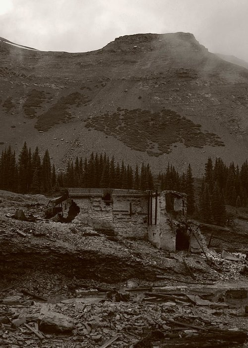 Tomboy Greeting Card featuring the photograph Tomboy Ghost Town I by Daniel Woodrum