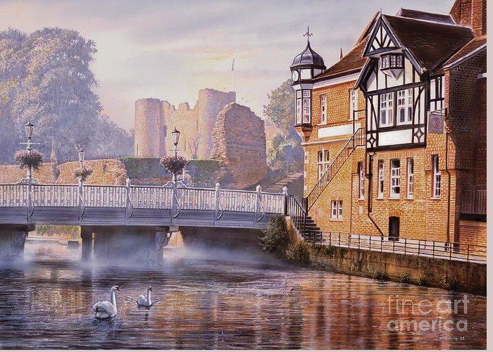 Steve Crisp Greeting Card featuring the digital art Tonbridge Castle by Steve Crisp