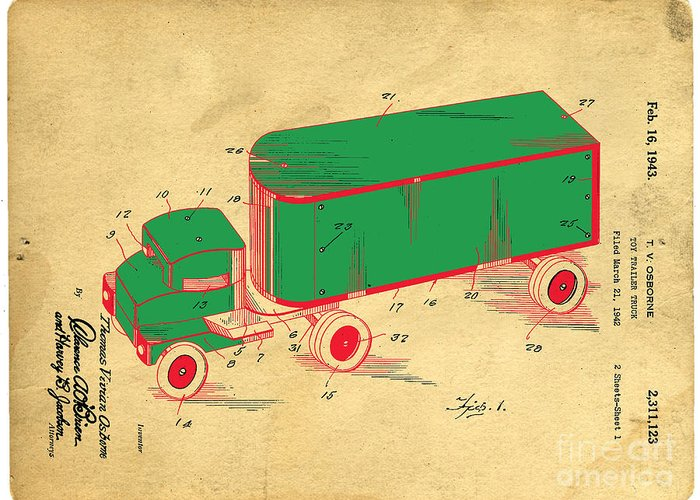 Toy Truck Greeting Cards