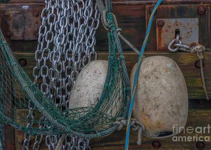 Shrimp Boat Greeting Card featuring the photograph Tools Of The Trade by Dale Powell