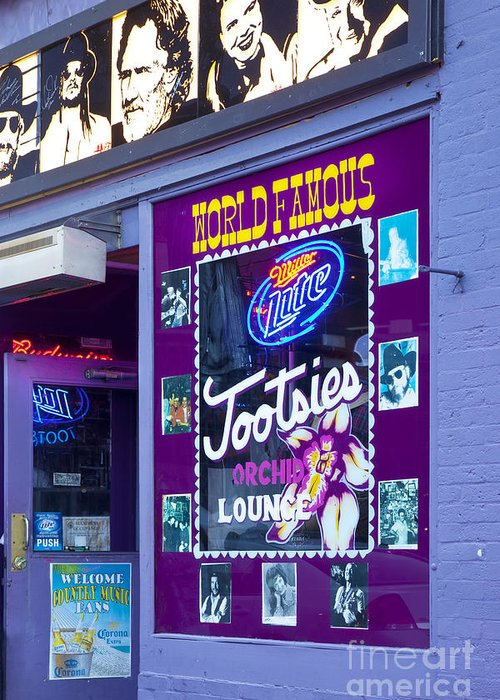 Tootsies Greeting Card featuring the photograph Tootsies Nashville by Brian Jannsen