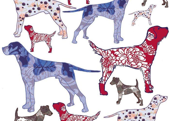 Spotted Dogs Greeting Cards