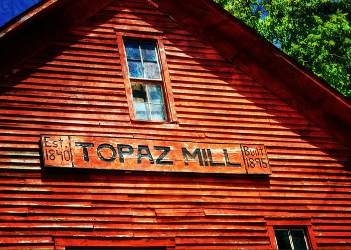 Mill Greeting Card featuring the photograph Topaz by Marty Koch