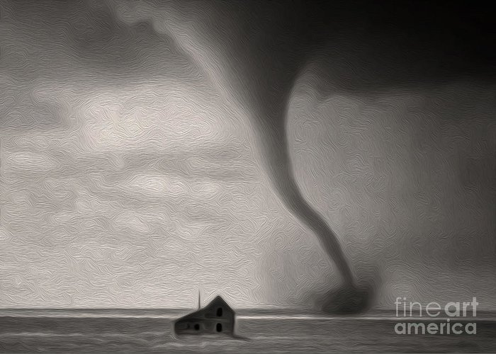 Tornado Greeting Card featuring the photograph Tornado by Gregory Dyer