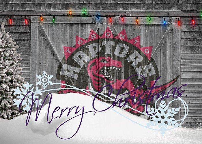 Raptors Greeting Card featuring the photograph Toronto Raptors by Joe Hamilton