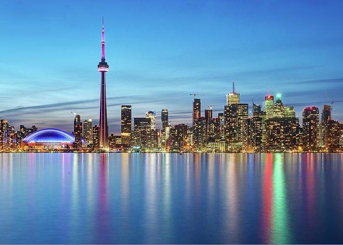 Tranquility Greeting Card featuring the photograph Toronto Skyline by Thomas Kurmeier