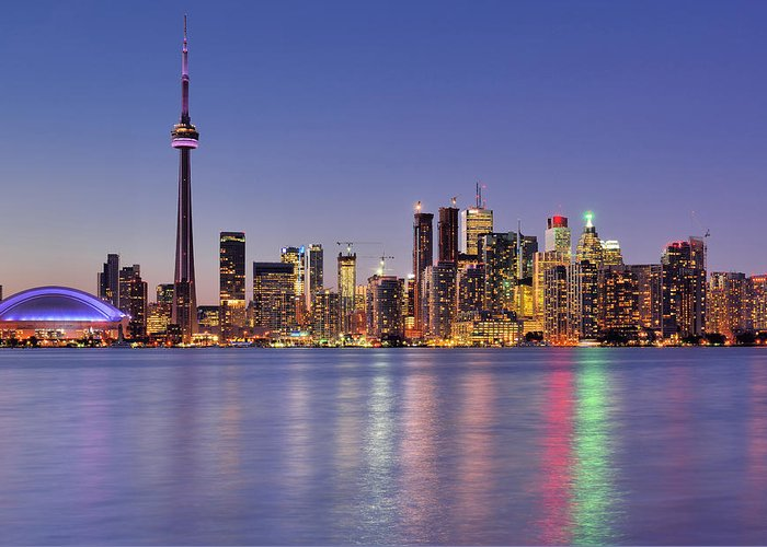 Toronto Greeting Card featuring the photograph Toronto Waterfront by Wei Fang