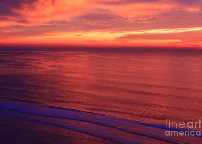 Beach Greeting Card featuring the photograph Torrey Pines Twilight by John F Tsumas