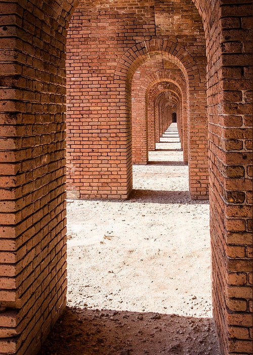 Adam Pender Greeting Card featuring the photograph Tortugas Infinite Walkway by Adam Pender