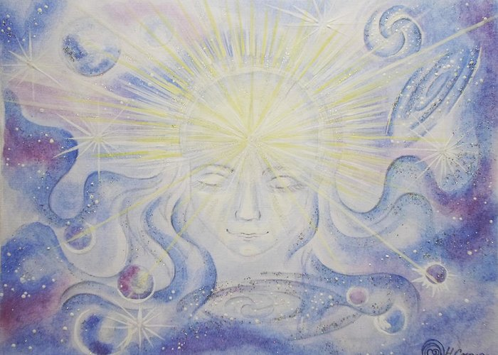 Cosmos Greeting Card featuring the painting Total Freedom Af Mind And Spirit by Natalia Smoliar