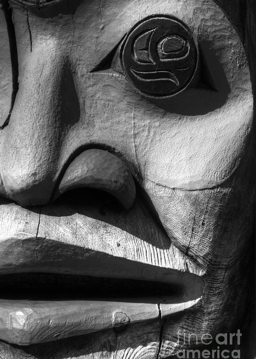 Totem Greeting Card featuring the photograph Totem 3 by Bob Christopher
