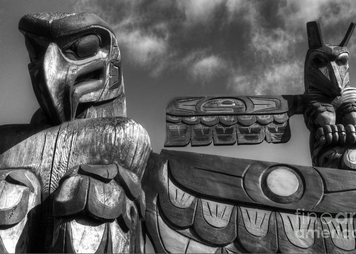 Totem Greeting Card featuring the photograph Totems 2 by Bob Christopher