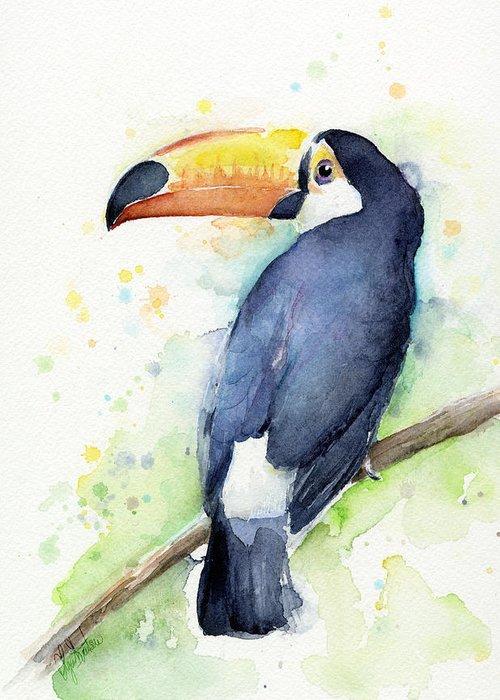Tropical Bird Art Greeting Cards