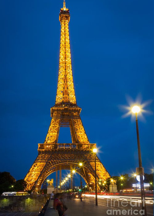 Eiffel Greeting Card featuring the photograph Tour Eiffel De Nuit by Inge Johnsson