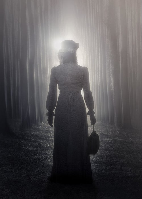 Woman Greeting Card featuring the photograph Towards The Light by Joana Kruse