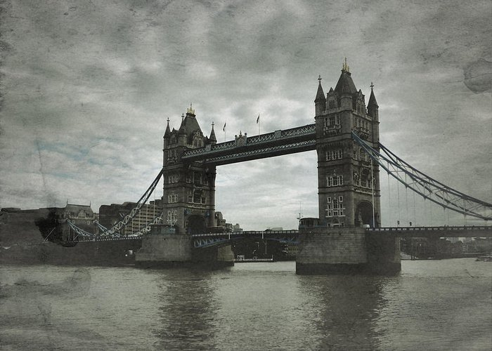Tower Bridge Greeting Card featuring the photograph Tower Bridge In London Over The Thames by John Colley