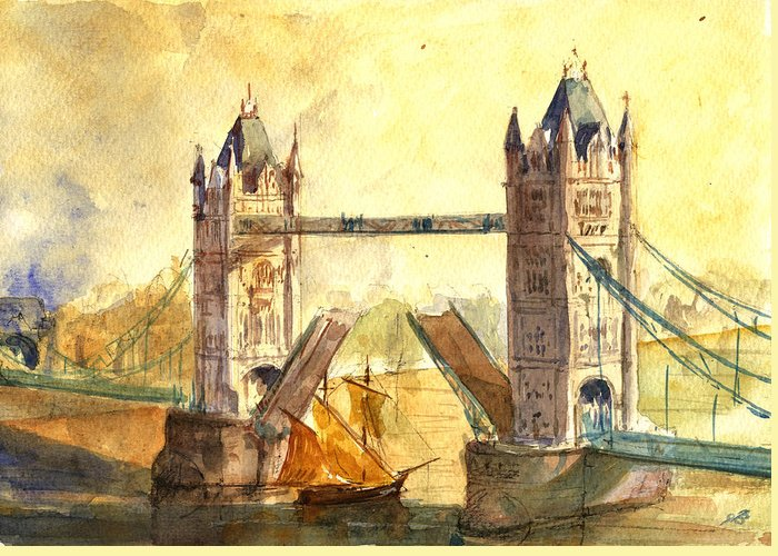 Tower Bridge Greeting Cards