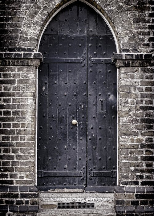 Door Greeting Card featuring the photograph Tower Door by Heather Applegate