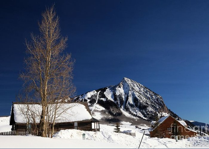 Crested Butte Greeting Card featuring the photograph Towering Above Crested Butte by Adam Jewell