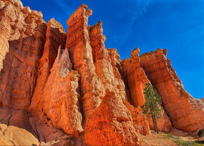 Landscape Greeting Card featuring the photograph Towering Pinnacles by John M Bailey