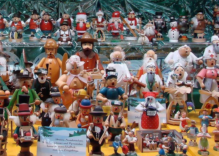 Baubles Greeting Card featuring the photograph Toys And Nutcrackers For Sale by Ronda Broatch