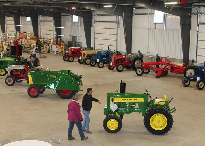 Farm Greeting Card featuring the photograph Mecum Tractor Auction by Nelson Skinner