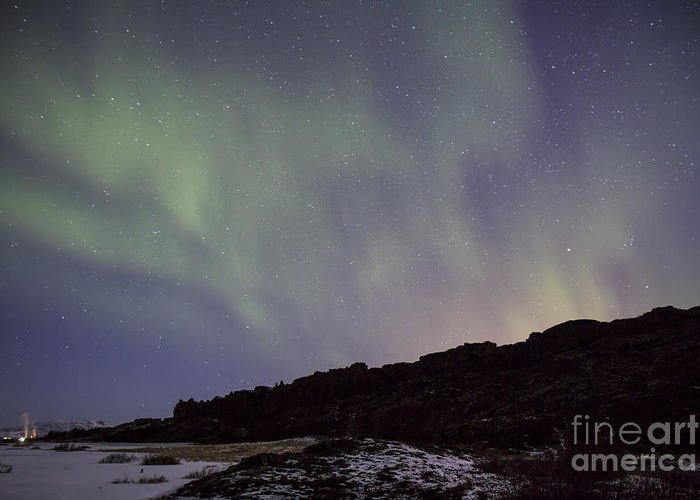 Thingvellir Greeting Card featuring the photograph Traces Of Dreams by Evelina Kremsdorf