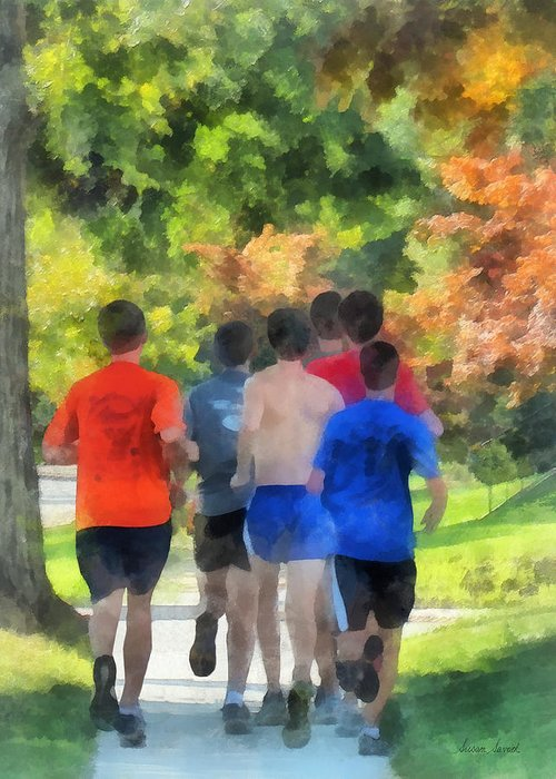 Track And Field Greeting Card featuring the photograph Track Practice by Susan Savad