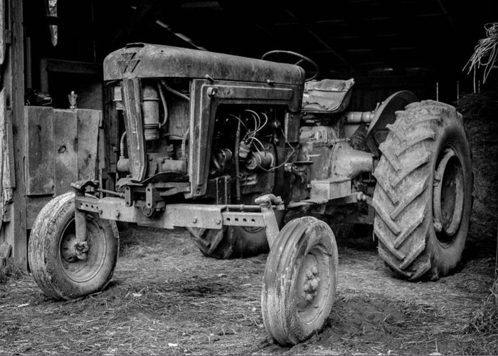 Tractor Greeting Card featuring the photograph Tractor by Alicia Romano