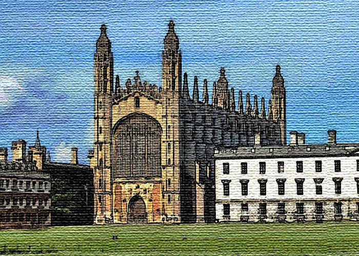 Cambridge Greeting Card featuring the digital art Traditional Cambridge by Surbjit Singh