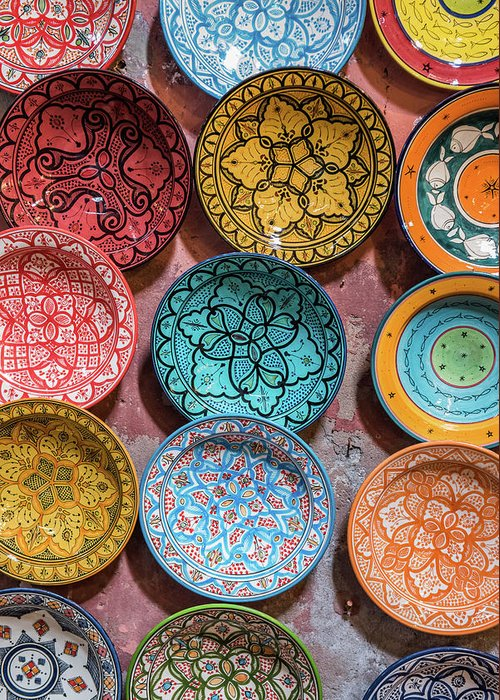 Art Greeting Card featuring the photograph Traditional Ceramic Moroccan by Guyberresfordphotography