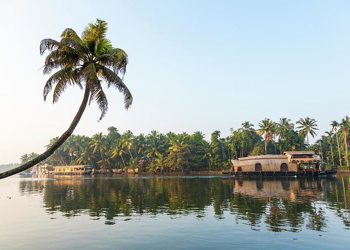 Alappuzha Greeting Card featuring the photograph Traditional Houseboat, Kerala by Peter Adams
